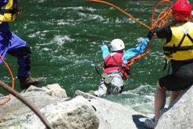 Tethered Rescue Practice